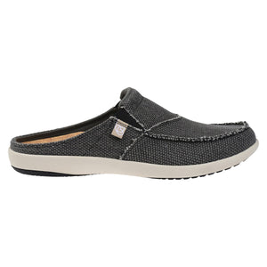 Men's Siesta Slide Canvas - Charcoal Grey