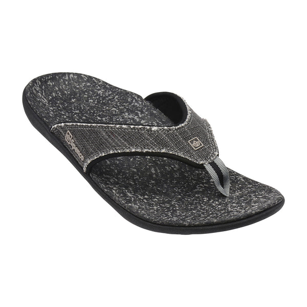 Spenco Men's Yumi plus Black Canvas Sandal