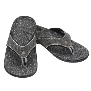 A pair of Spenco Men's Yumi plus Black Canvas Sandal