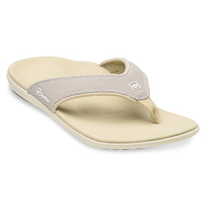 Spenco Women's Yumi Plus Nubuck Stone color Sandal