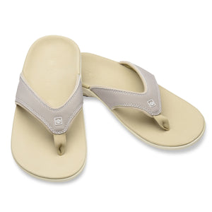 A pair of Women's Yumi plus Nubuck Stone Color Sandal