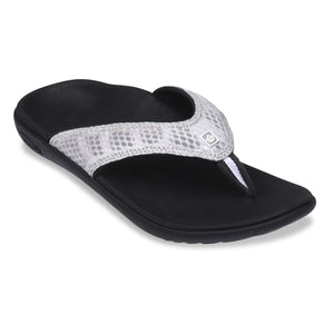 Spenco Women's yumi plus Breeze Black/Silver Sandal