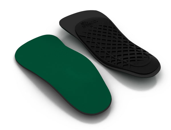 Top and Bottom view of the Spenco rx three quarter length orthotic arch support insoles