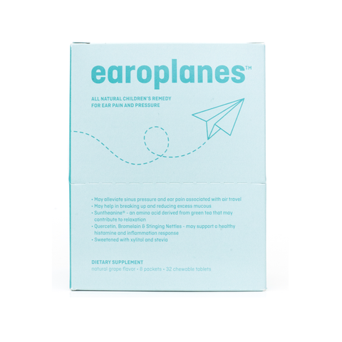 Dr. Salerno's Earoplanes - Box of 8 Packets - Chewable Tablets