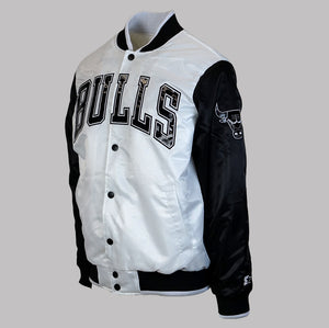 "Men's Chicago Bulls ""Kicksmas"" Starter Jacket - White/Black/Patent"