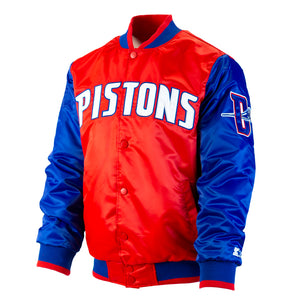 "Detroit Pistons Starter Jacket (Men's) ""Red, White and Pistons Blue"""