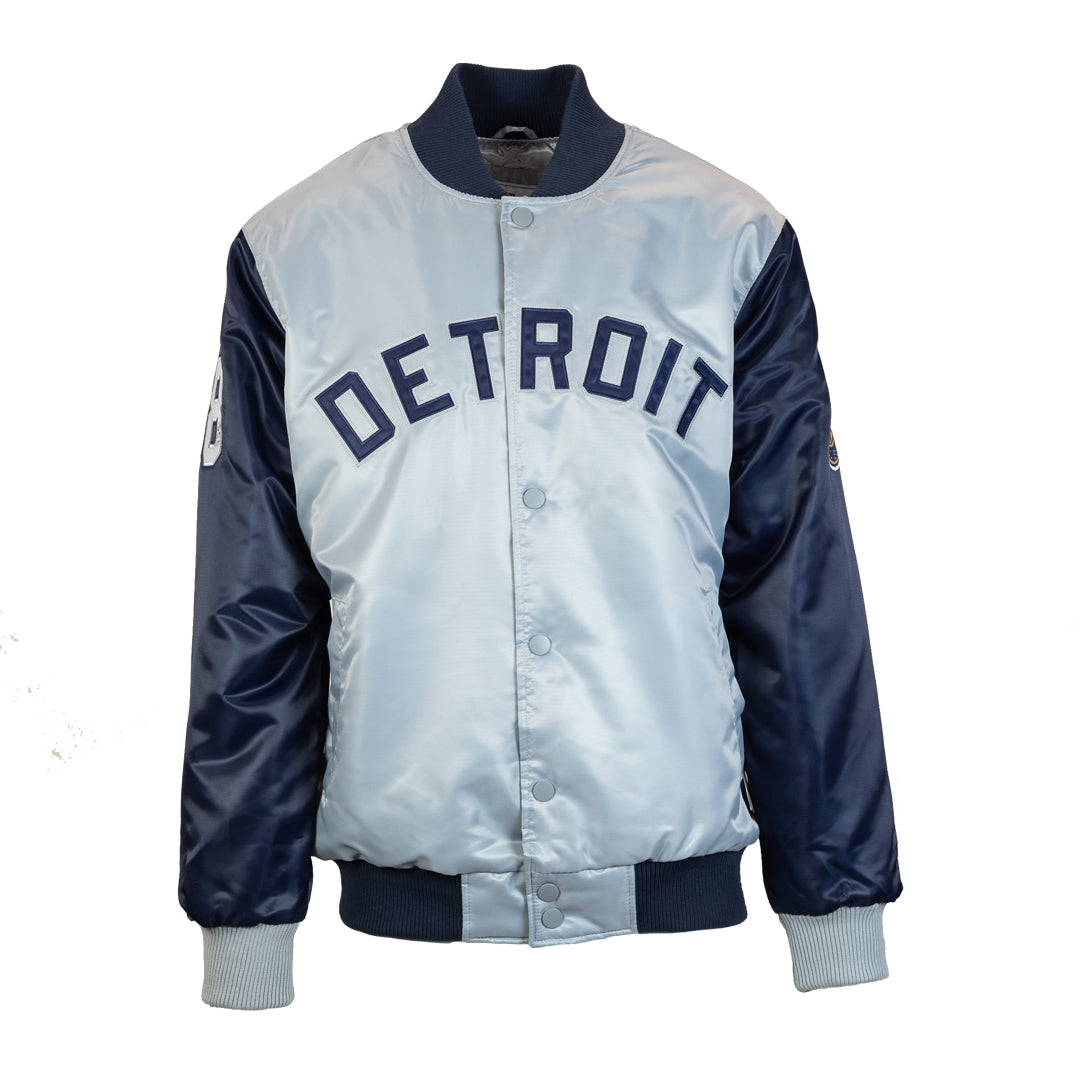 53f7d897a Men's Detroit Tigers 50th Anniversary Starter Jacket - Blue/Grey
