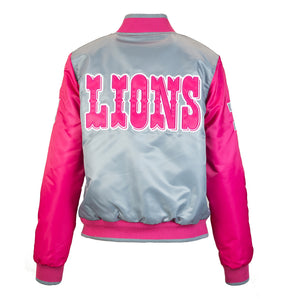 Women's Detroit Lions Starter Jacket - Pink/Grey