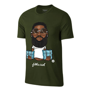 "Men's Filthie Rich ""Beard Baby"" Tee - Olive"