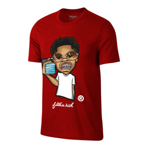 "Men's Filthie Rich ""Brace Face Baby"" Tee - Red"