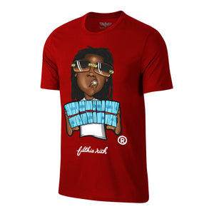 "Men's Filthie Rich ""Dread Head"" Tee - Red"