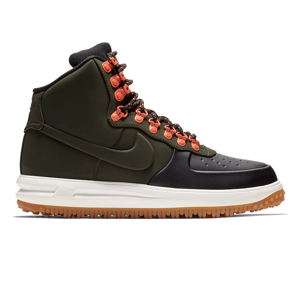 best service 86a10 2c536 Men s Nike Lunar Force 1 Boot - Green Black