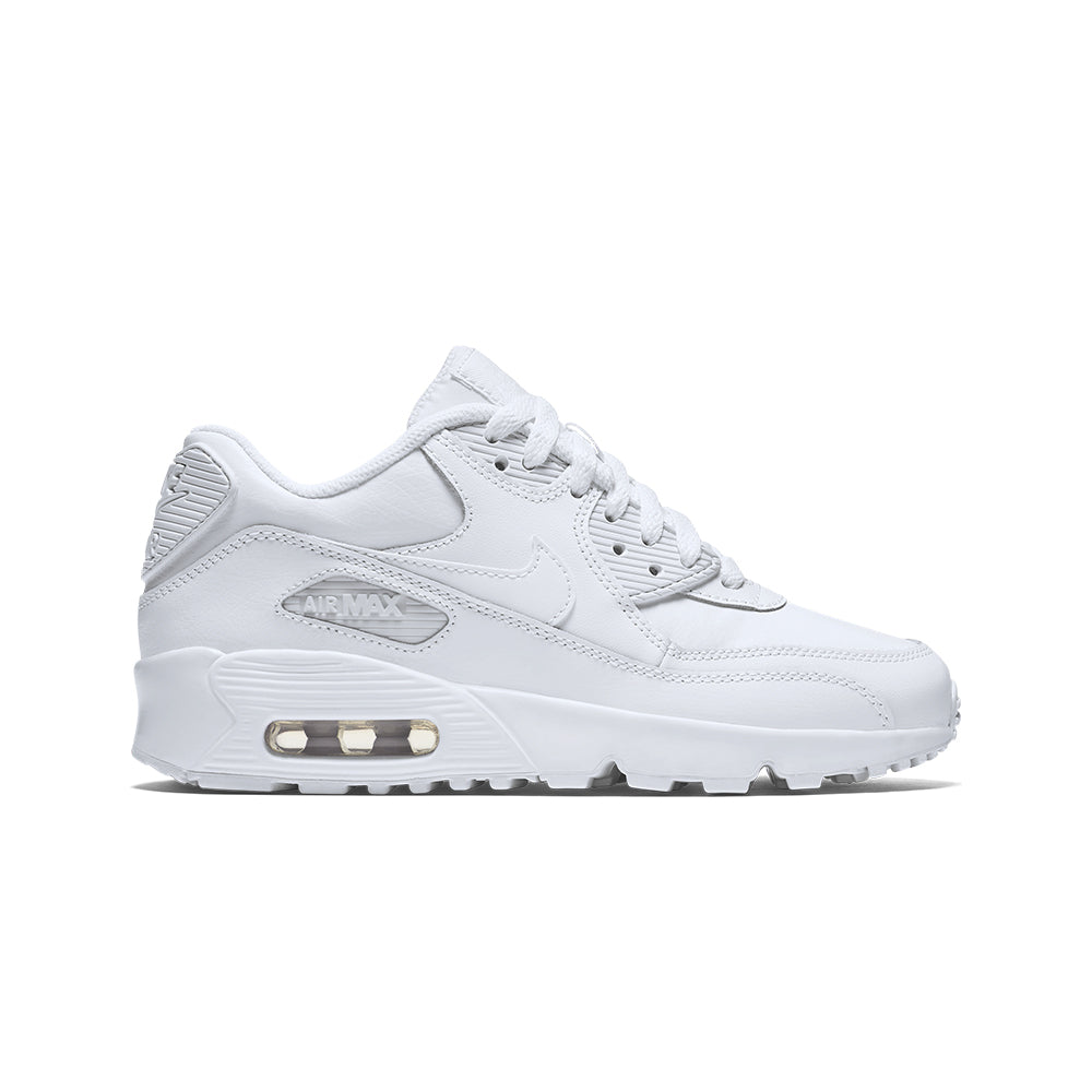 nike air max leather and white boys