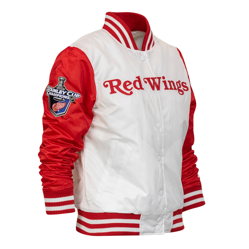 f1acd222eee Women s Detroit Red Wings Hockeytown Championship Starter Jacket - Whi -  Mr. Alan s