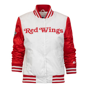 Women's Detroit Red Wings Hockeytown Championship Starter Jacket - White