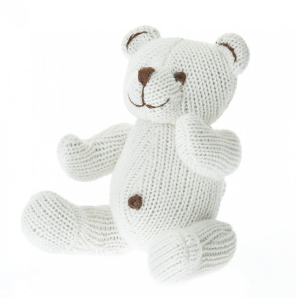 Knit Bear Rattle Teddy Bear Toy