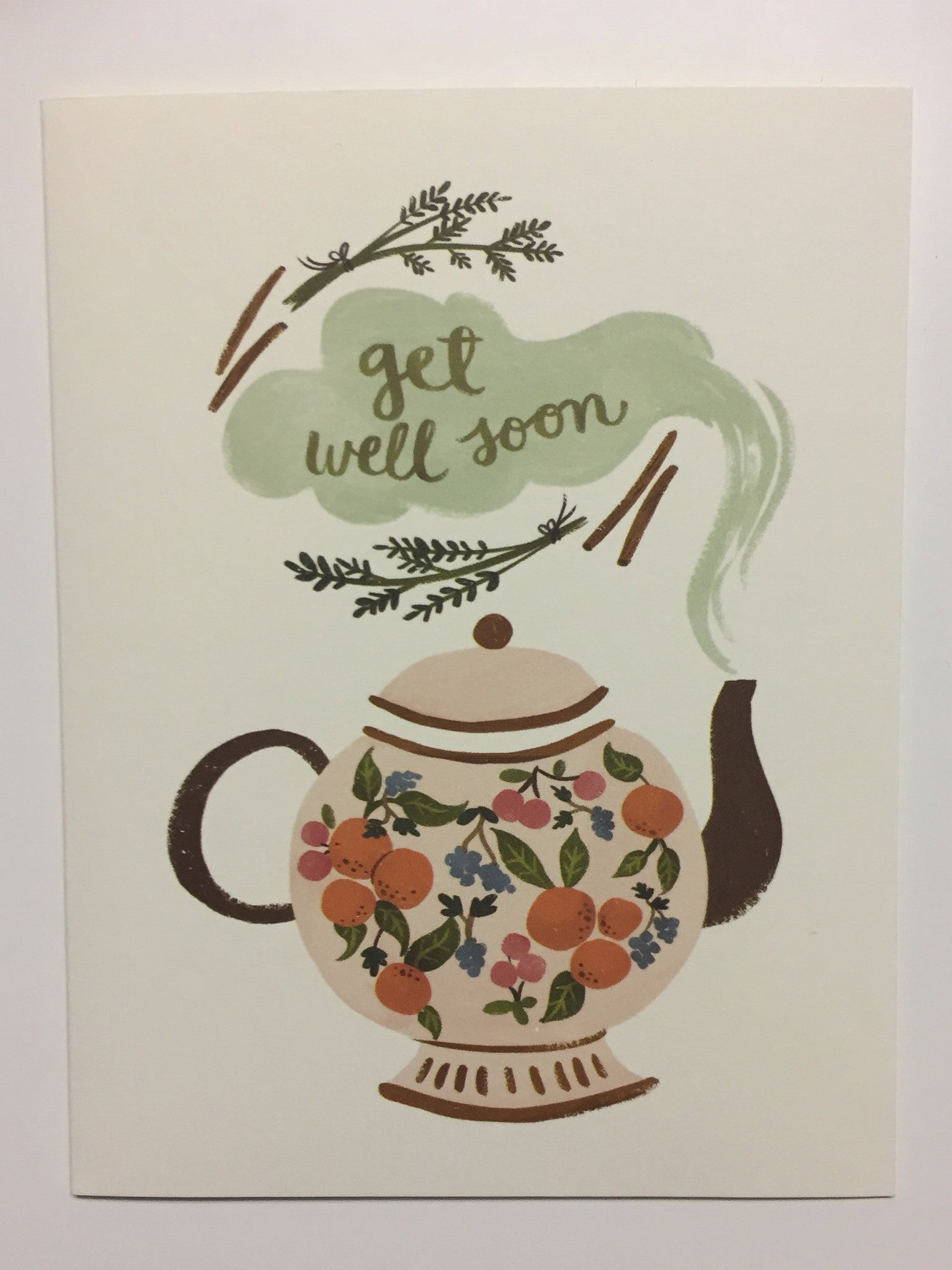 Get Well Soon Card from Quill & Fox Teapot image