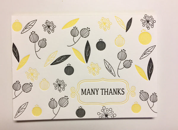 Thank You Cards from That Sky Blue Letterpress Cards