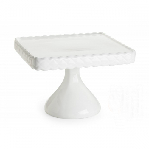 Square Scalloped Pedestal