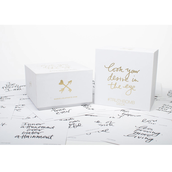 Danielle LaPorte #Truthbomb card deck to inspire friends or strangers