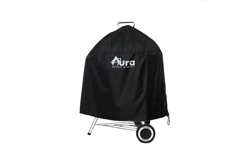 Heavy Duty Premium Weather Resistant Grilling Cover for Weber 22-inch Charcoal Grill - Aura Outdoor Products The Best Kamado Grills and Kamado Accessories. Ceramic Grill