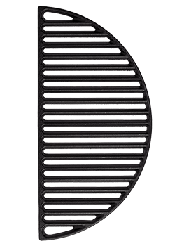 Half Moon Cast Iron Cooking Grate, 18 Inch - Aura Outdoor Products The Best Kamado Grills and Kamado Accessories. Ceramic Grill