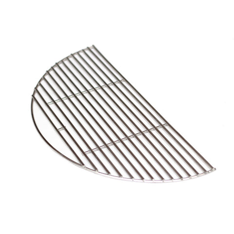 Half Moon Stainless Grill Grate, 18 Inch - Aura Outdoor Products The Best Kamado Grills and Kamado Accessories. Ceramic Grill