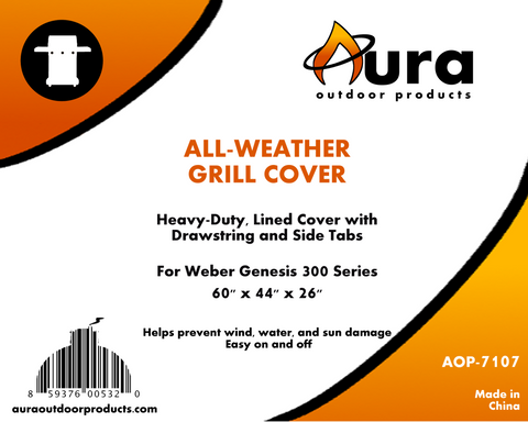heavy duty premium weather resistant grilling cover for weber genesis 300 series gas grill aura