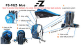 EZ FunShell Backpack Umbrella UV RAIN PROTECTIONS Short Trip Fan FS-1825