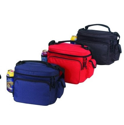 3 Executive Lunch Box Coolers with Bottle Holder and Cell Phone Pouch x 3 bags by Dynamic Line
