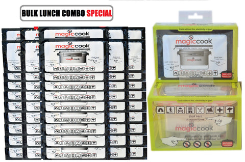 40% OFF MAGIC COOK TRIPLE LAYERS LUNCH COMBO SET: LUNCH BOX + 51 REFILLS HEAT PACKS