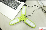 Collapsible Clover Style 18 Led Lights Flashlight Rechargeable Battery Powered by USB Charging and Solar Panel EZ-SB-6039