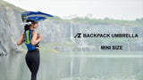 EZ FunShell Backpack Umbrella UV RAIN PROTECTIONS Lightweight Fan Series FS-1410
