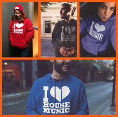 I Love House Music Unisex Hoodies