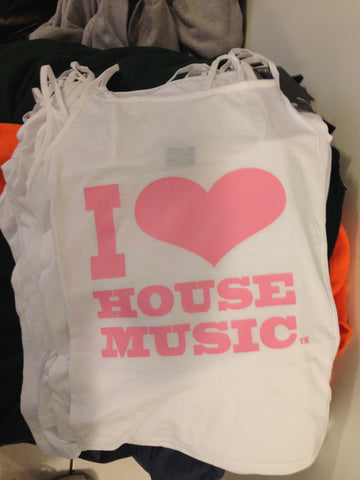 I Love House Music Gear Spaghetti Strap