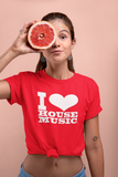 I Love House Music Ladies Cut  T-Shirt