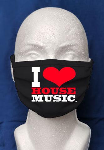 I Love House Music Mask