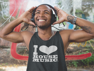 I Love House Music Tank Tops