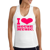 I Love House Music RacerBack T-Shirts