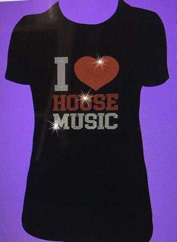 I Love House Music Ladies Crop Top-Shirts