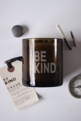 BE KIND Tangerine Beeswax Candle