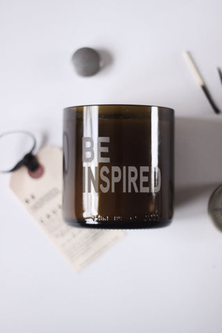 BE INSPIRED Unscented Beeswax Candle