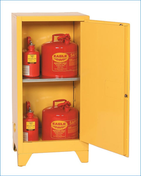 16 Gallon Self Closing Space Saver Tower Flammable Liquid Safety Cabinet - Eagle