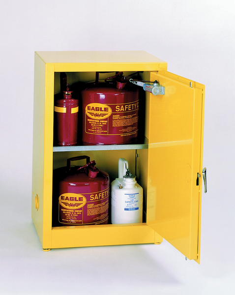 12 Gallon Self Closing Space Saver Flammable Liquid Safety Cabinet - Eagle