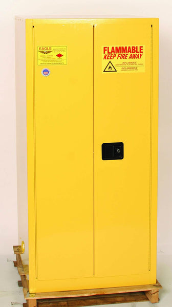 55 Gallon Self Closing Haz Mat One Drum Vertical Safety Cabinet - Eagle