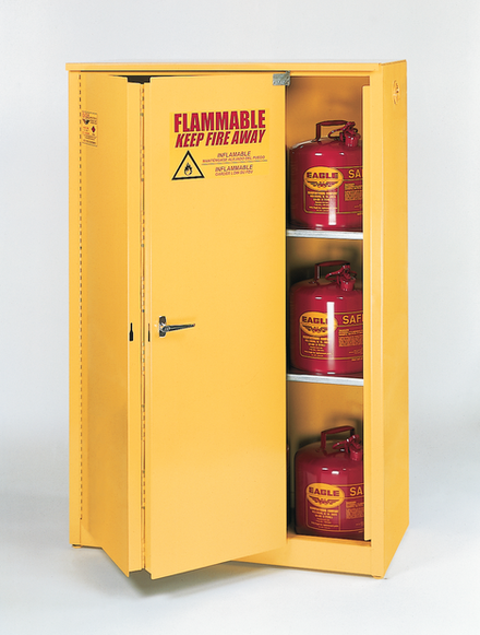 45 Gallon Sliding Self Closing Standard 45 Flammable Liquid Safety Cabinet - Eagle