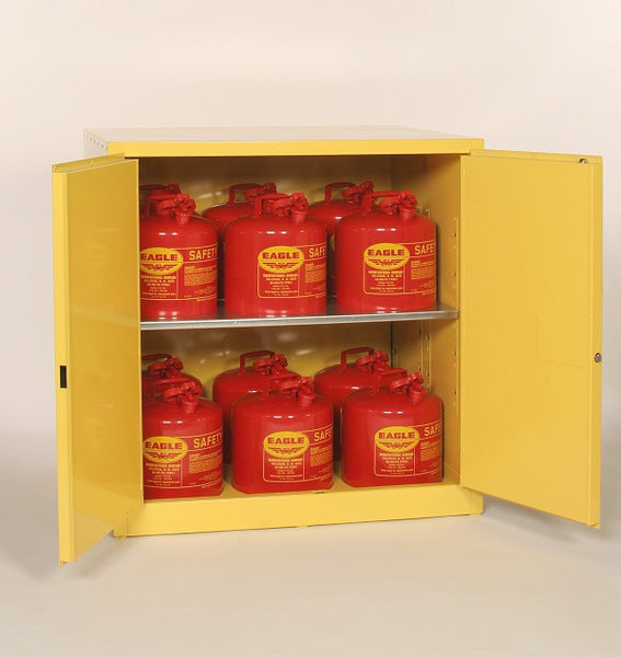 60 Gallon Self Closing Work Bench Flammable Liquid Safety Cabinet - Eagle