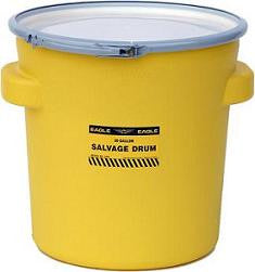 20 Gallon Salvage Drum with Metal Lever-Lock Band - Eagle