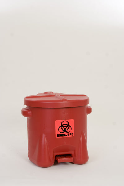 10 Gallon BioHazardous Waste Can - Eagle