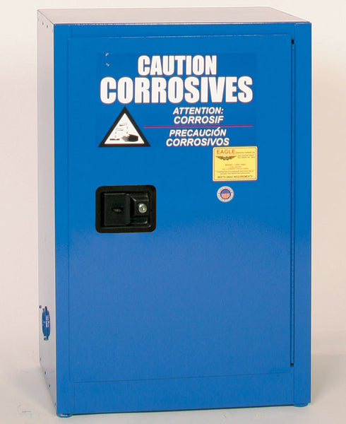 12 Gallon Manual Closing Space Saver Acid and Corrosive Safety Cabinet - Eagle